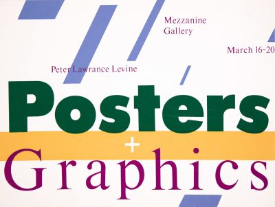 CalArts poster: Posters + Graphics by Peter Levine