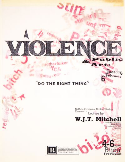 CalArts poster: Violence & Public Art by