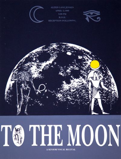 CalArts poster: To The Moon: A Senior Vocal Recital by