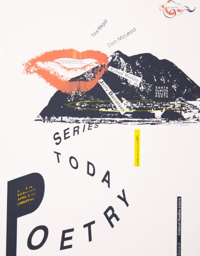 CalArts poster: Poetry Today Series by