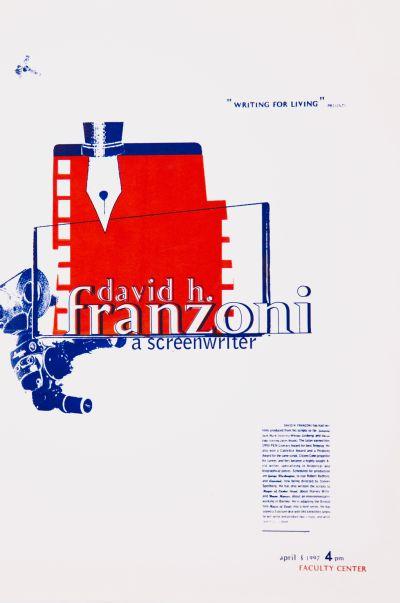 CalArts poster: David H. Franzoni by