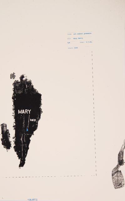 CalArts poster: Mary Kelly by Jen McKnight