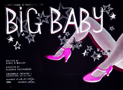CalArts poster: Big Baby by Julie Mattei