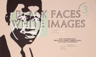 CalArts poster: Black Faces White Images by Barbara Glauber