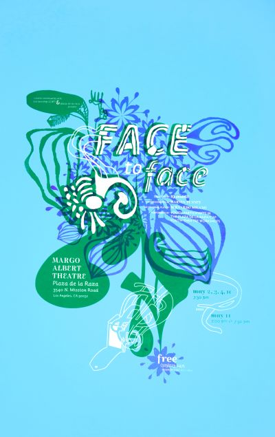 CalArts poster: CalArts Community Arts Partnership: Face To Face by