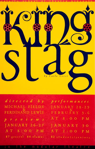 CalArts poster: King Stag by