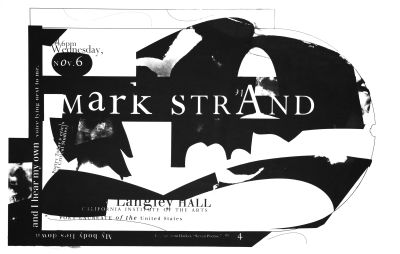 CalArts poster: Mark Strand by Gail Swanlund