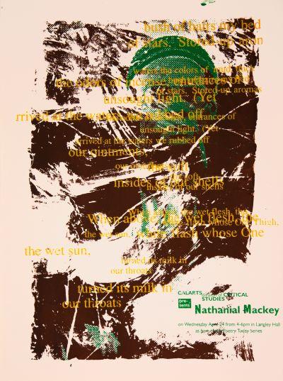 CalArts poster: Nathanial Mackey by