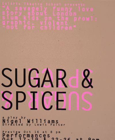CalArts poster: Sugar & Spice by Caryn Aono