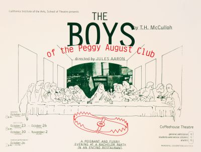 CalArts poster: The Boys of the Peggy August Club by
