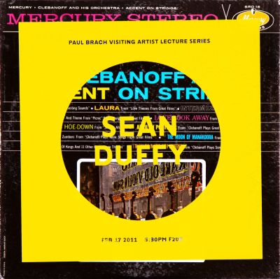 CalArts poster: Sean Duffy (5/9) by Tim Belonax