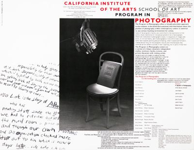 CalArts poster: CalArts Program in Photography by Lorraine Wild
