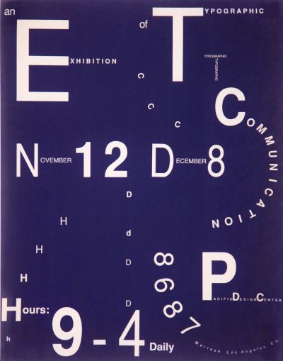 CalArts poster: An Exhibition of Typographic Communication by
