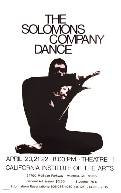 CalArts poster: The Solomons Company Dance by