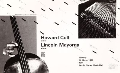 CalArts poster: Howard Colf & Lincoln Mayorga by