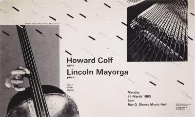 CalArts poster: Howard Colf & Lincoln Mayorga by