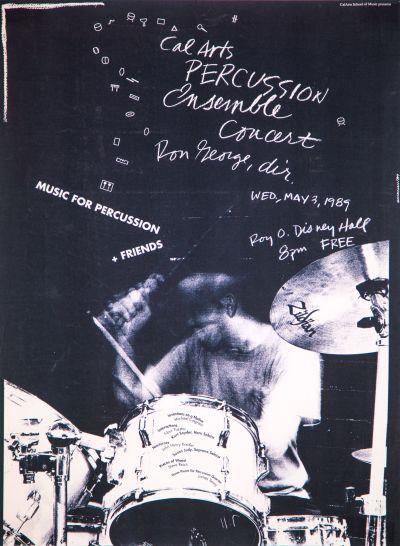 CalArts poster: 1989 CalArts Percussion Ensemble Concert by