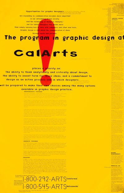 CalArts poster: The Program In Graphic Design At CalArts by Ed Fella Jeff Keedy Lorraine Wild