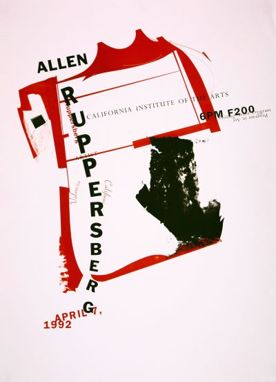 CalArts poster: Allen Ruppersberg by Gail Swanlund