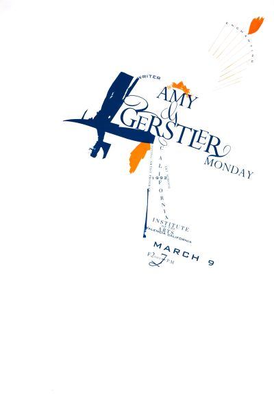 CalArts poster: Amy Gerstler by Gail Swanlund