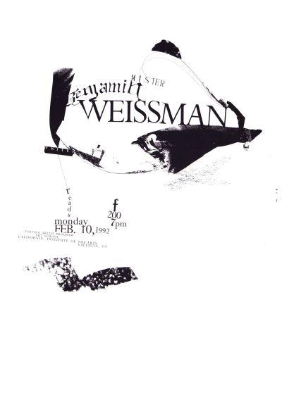 CalArts poster: Benjamin Weissman by Gail Swanlund