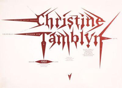 CalArts poster: Christine Tamblyn by James Stoecker