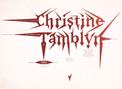 CalArts poster: Christine Tamblyn by James Stoecker
