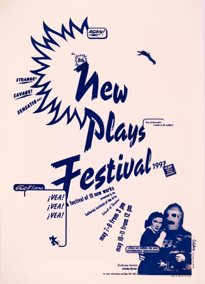 CalArts poster: '97 New Plays Festival by Peter Mühlfriedel