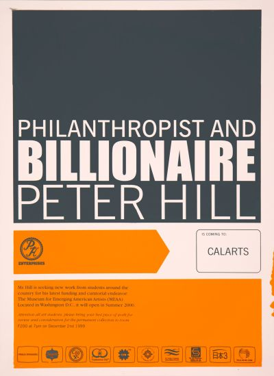 CalArts poster: Peter Hill by Michael Kohnke