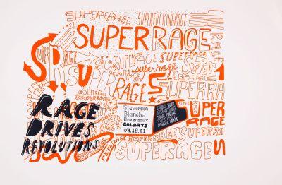 CalArts poster: Superrage: Rage Drives Revolutions by Daniela Marx Tuan Phan