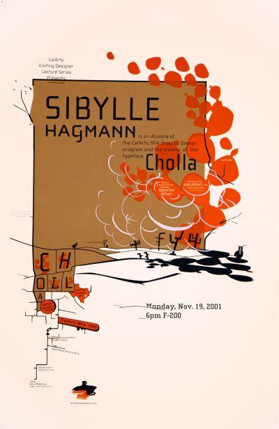 CalArts poster: Sibylle Hagmann by Jen McKnight Jon Sueda