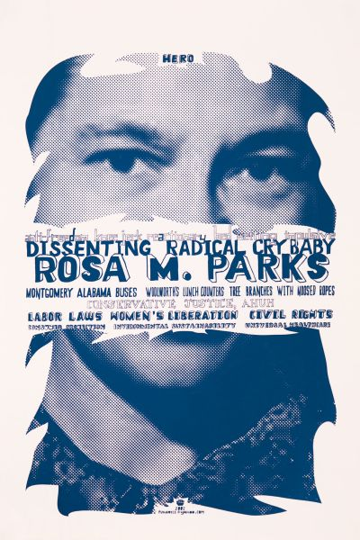 CalArts poster: Dissenting Radical Cry Baby: Rosa M. Parks by Tuan Phan