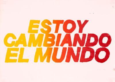 CalArts poster: Estoy Cambiando El Mundo by Tuan Phan