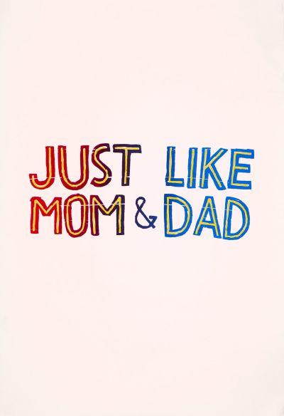 CalArts poster: Just Like Mom & Dad by Tuan Phan