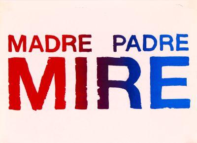 CalArts poster: Madre Padre Mire by Tuan Phan