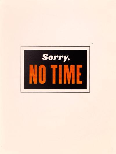 CalArts poster: Sorry, No Time by Tuan Phan