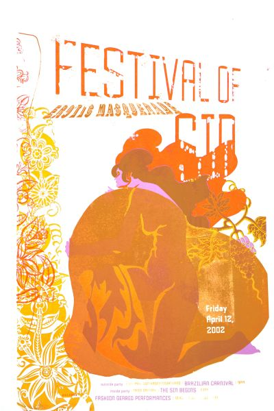 CalArts poster: Festival Of Erotic Masquerade by