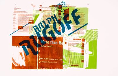 CalArts poster: Ralph Rugoff by