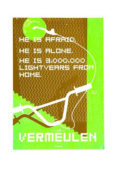 CalArts poster: Rick Vermulen by Max Erdenberger Megan McGinley