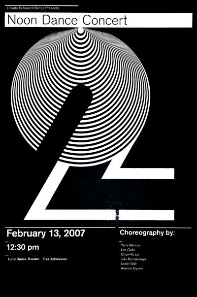 CalArts poster: 2007 Noon Dance Concert by