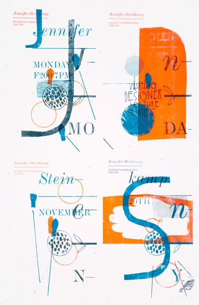 CalArts poster: Jennifer Steinkamp by Florencio Zavala