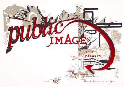 CalArts poster: Public Image: The Non-Branding of CalArts by Bruce Sachs Penny Pehl Peter Kaplan
