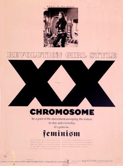 CalArts poster: XX Chromosomes: Revolution Girl Style by Colombene Jenner