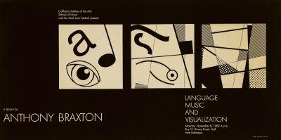 CalArts poster: Anthony Braxton: Language, Music and Visualization by Mark Shoolery