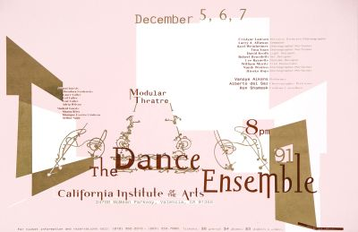 CalArts poster: The Dance Ensemble '91 by Susan LaPorte