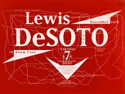 CalArts poster: Lewis Desoto by James Stoecker