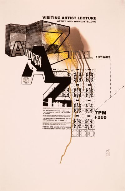 CalArts poster: Andrea Zittel by Olivia Morad