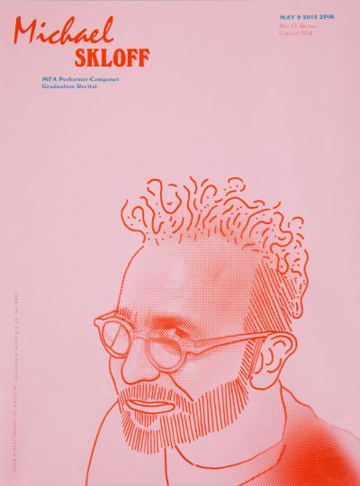 CalArts poster: Michael Skloff by Jacob Halpern
