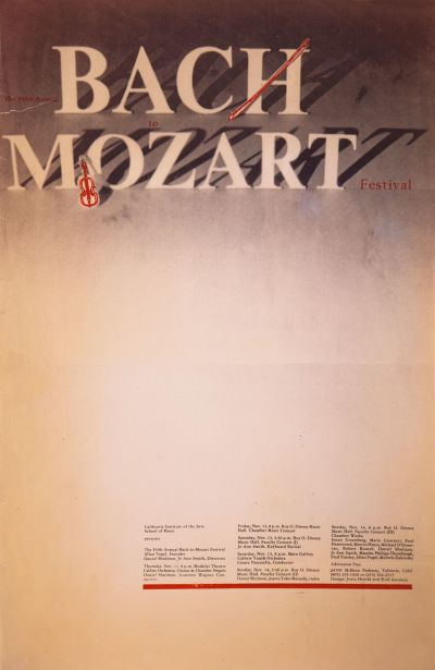 CalArts poster: The Fifth Annual Bach to Mozart Festival by