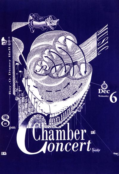 CalArts poster: Chamber Concert by Salman Ahmad